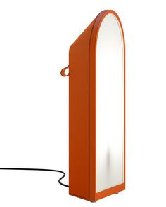 Odeon floor lamp - H 64 cm Orange / Black stitching | Floor lamp Fontana Arte