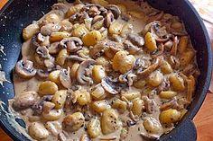 Gnocchi Champignon Pfanne