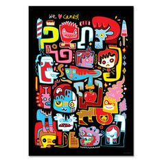 We Love Candy Art Print, 16€, now featured on Fab.