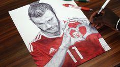 Gareth Bale Drawing - Wales - DeMoose Art