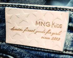 etiqueta de cintura para jeans MNG kids.