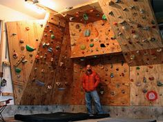 Home Rock Climbing Wall Design instructions on how to build an outdoor bouldering wall like this one 7 Most Extreme Garages Home Climbing Wallrock
