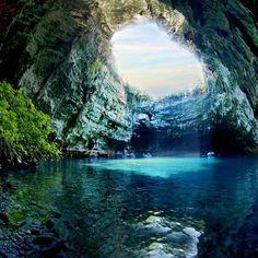 Melissani Cave Lake, Kefalonia Island, Greece