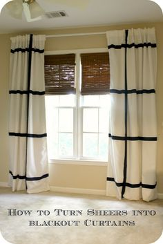 How to make blackout curtains from sheers: Nursery curtains