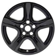 "2016 2017 2018 Chevrolet Camaro Black Wheel Skins / Hubcaps / Wheel Covers 18"""" SET OF 4"