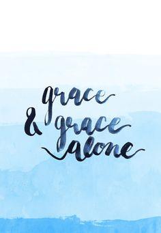 grace & grace alone blue water color background | christian wallpaper, bible verse wallpaper, iPhone wallpaper