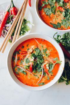 15 Minute Coconut Curry Noodle Soup, by thewoksoflife.com