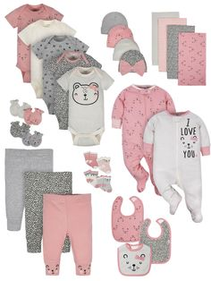 Gerber Baby, Newborn Outfits, Cute Baby Clothes, Baby Girl Newborn, Mittens, Baby Dolls, Cute Babies, Baby Gifts, New Baby Products