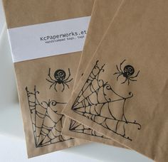 Halloween Kraft Bags - Hand Stamped by MarthaStewartLiving