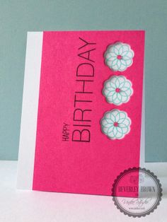 * This is my first post of the day, the next Uniko Studio product introduction post will be live at GMT * Hey! Birthday Presents, Birthday Cards, Happy Birthday, Time Out, Clear Stamps, Product Introduction, Birthdays, Card Making, Challenges