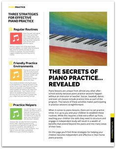 Send this home to piano parents to inspire them to motivate, assist and schedule home practice with their children. Free printable!