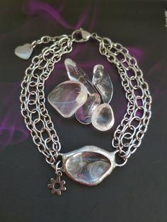krištáľový náramok z chirurgickej ocele Charmed, Chain, Bracelets, Jewelry, Jewlery, Jewerly, Necklaces, Schmuck, Jewels