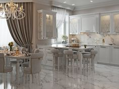 I like a lot of this Luxury Kitchen Design, Bathroom Design Luxury, Classic Interior, French Interior, Küchen Design, House Design, Interior Design, Classical Kitchen, Glam House