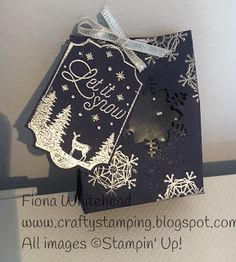 Stampin Up www.craftystamping.blogspot.com MERRY LITTLE LABELS - BOXES #CHRISTMASPUNCH