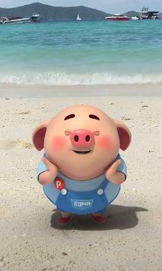 Pig Pig Wallpaper, Apple Wallpaper, This Little Piggy, Little Pigs, Mini Porco, Cute Piglets, Pig Drawing, Pig Illustration, Cartoon Background