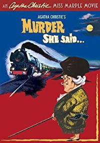 Mystery novelist Agatha Christie's intrepid spinster sleuth, Miss Marple, reveals a skeleton full of closets as she tracks a killer in Murder, She Said. Miss Marple (Academy Award winner Margaret Rutherford) witnesses a murder while aboard the night train from Paddington.