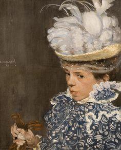 Henri Evenepoel, Le Chapeau Blanc (The White Hat), 1897 | por Phillips Collection