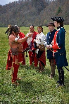 Emissaries of Peace EFT, Colonial Williamsburg. Peace ceremony with dancers and the Cherokee meeting with Timberlake. Photo by David M. Doody - We saw a Cherokee presentation last week, also.
