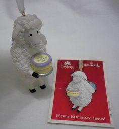 2004 Hallmark Keepsake Ornament Happy Birthday Jesus! Lamb with Cake MIB Sheep