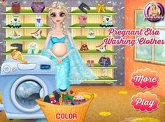 "And ""Pregnant Elsa Washing Clothes"":"