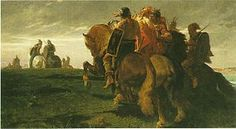 Knights Celtic march of ancient Rome in the early fourth century BC Evariste - Vital Luminais.