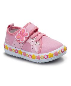 Another great find on #zulily! Pink Butterfly Sneaker #zulilyfinds