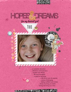 Hopes & Dreams   Simple Scrapper   Kimberly Kalil Designs