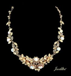 Vintage Austria Rhinestone Necklace http://www.jeweldiva.com/newest-additions/vintage-austria-rhinestone-necklace.html