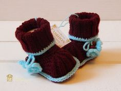 Hand Knitted Baby Booties. Knitted booties. par Exclusive72 sur Etsy