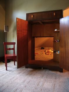 Cool! Narnia room for children!  My kids are too big for this, but I thought this is a neat idea.
