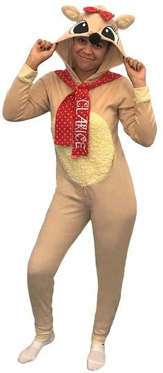 85c39790d97a3 Juniors' Rudolph The Red-Nosed Reindeer Clarice Costume One-Piece Pajamas