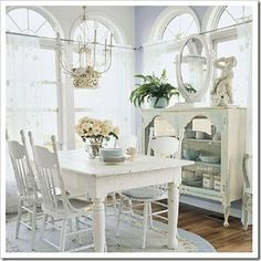 dining# white# shabby chic#