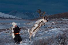 Photographer Hamid Sardar-Afkhami captured fascinating images of reindeer people living in Mongolia.