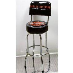 Harley-Davidson Bar Stool with Backrest