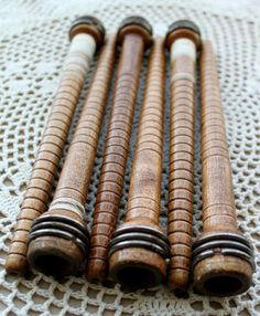 Vintage Wooden Textile Bobbins / Quill Bobbins ~ 10 For $20 ~ Local Pickup Only in Metro Atlanta, GA / Manchester TN / East Ridge, TN ~ Click On Picture Link For More Info ~ ( reclaimed recycled upcycled arts & crafts DIY primitive primitives rustic decor country chic shabby chic )