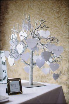 Silver Wishing Tree Heart Tags Guest Book Www Pamelladunn Co Uk