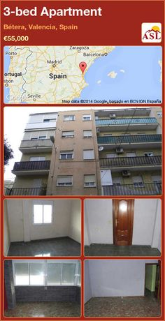3-bed Apartment in Bétera, Valencia, Spain ►€55,000 #PropertyForSaleInSpain