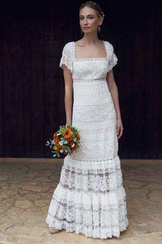 Vestido manga : CHARO RUIZ IBIZA. Moda adlib de Ibiza y vestidos de novia bohemios.