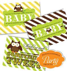 free printables owl baby shower