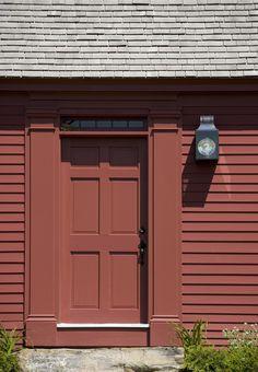 Primitive front door on the Elizabeth Burgess cape, by Connor Homes