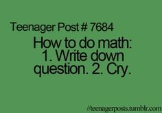 How to do math..