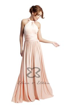 Eliza and Ethan - Multiway - Infinity - Bridesmaids Dresses - OneSize - Maxi MultiWrap Dress Color: Dusty Peach