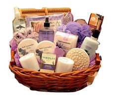 dcf75522950 Heavenly Lavender Spa Womens Birthday Holiday or Mothers Day Gift Basket  Idea   To view further for this item