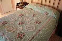 Chenille Bedspreads - Mine had a blue floral pattern and my sister had yellow. I wish I still had it.