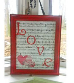 Valentine's Day Crafts: Upcycled Photo Frame