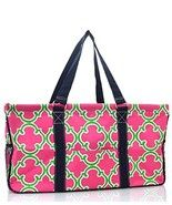Pink and Green Quatrefoil Utility Tote - $37.61