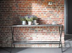 Briques Console, Entryway Tables, Furniture, Collection, Home Decor, Hall, Grey Woodwork, Vintage Industrial, Normandy