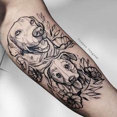 Tribal Tattoos, Tattoos Skull, Dog Tattoos, Small Tattoos, Dog Portrait Tattoo, Handpoked Tattoo, Clever Tattoos, Iris Tattoo, Tatoo Designs