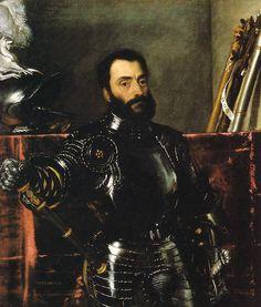 Titian - Francesco Maria I della Rovere (1490 – 1538) was an Italian condottiero, who was Duke of Urbino date of portrait circa 1536-8
