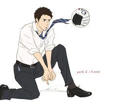 Daichi Sawamura, Daisuga, Haikyuu Karasuno, Haikyuu Funny, Haikyuu Ships, Haikyuu Fanart, Haikyuu Anime, Anime Guys, Manga Anime